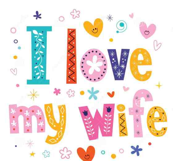 I love my wife decorative type lettering design 53514013