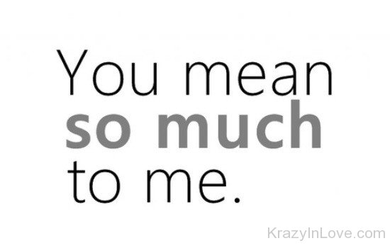 you mean everything to me sayings