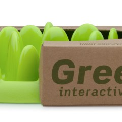 GREEN Mini Interactive Dog Feeder