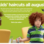 FREE kids' haircut at JC Penney Salon During the Month of August
