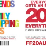 20% OFF KOHLS Printable Coupon code