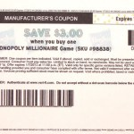 MONOPOLY MILLIONAIRE Game $3.00 OFF COUPON