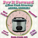 Aroma rice cooker 4-HOUR Flash giveaway!!!