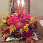 Thanksgiving Centerpiece and our Anniversary dinner