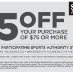 $25 off $75 Sports Authority in store purchase coupon