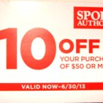 $10 off $50 Purchase Sports Authority Coupon, expires June 30 2013