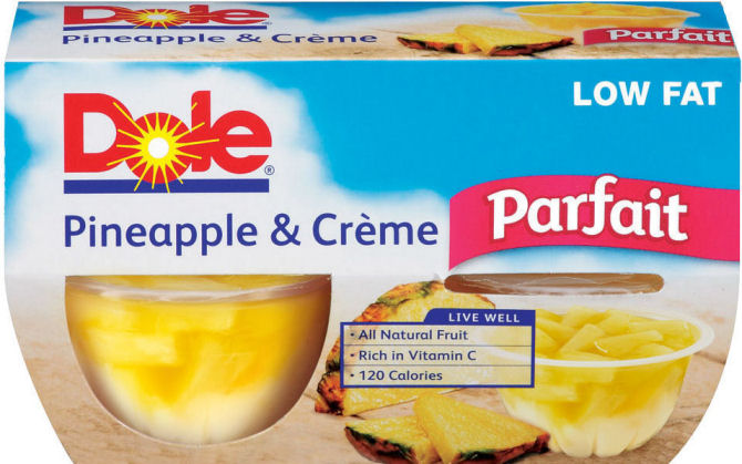 Dole low-fat fruit snacks