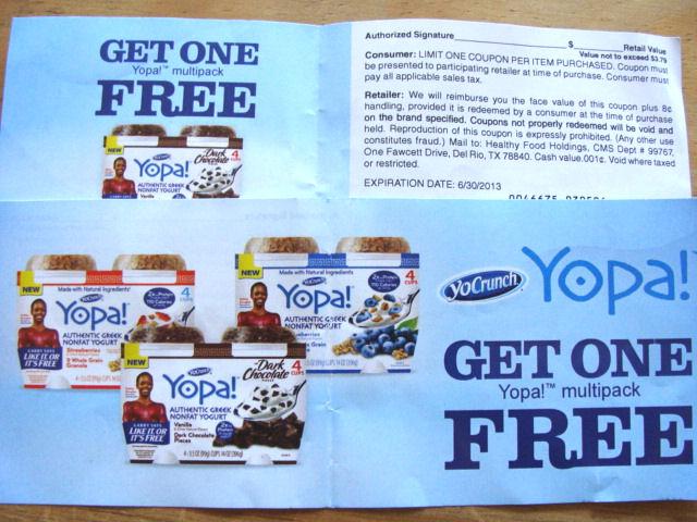 coupon for a free Yopa! yogurt