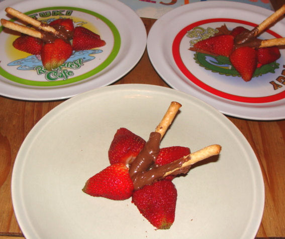 Nutella Chocolate covered strawberries