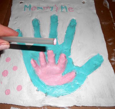 use glue stick or pencil eraser and go polka dot crazy