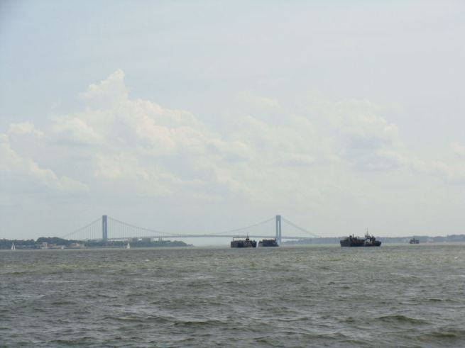 excellent viewpoint of the Verrazano and Brooklyn Bridges