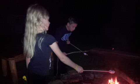 roasting patriotic marshmallows