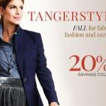 Tanger Outlet Centers 20% off coupon to celebrate the start of the Back to School shopping season