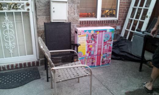 ups brought barbie dreamhouse