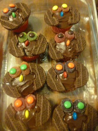 easy cute owl cupcakes