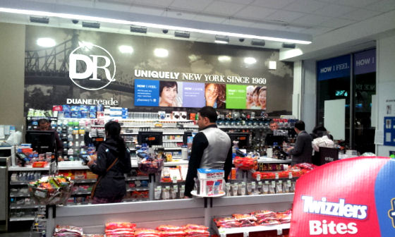 Duane Reade is a New York chain of pharmacies1 #shop