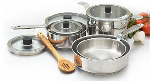 Natural  Stainless Steel Cookware