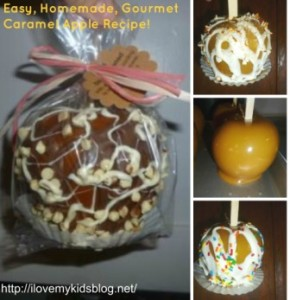 caramel apple collage