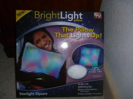Bright light pillow in box