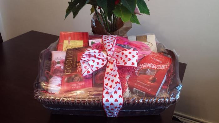 gift baskets that come wrapped in plastic