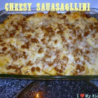 Cheesy Sausagllini Recipe-Made With Sausage Crumbles!