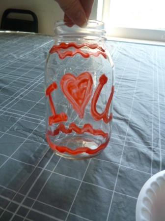 valentines day craft paint