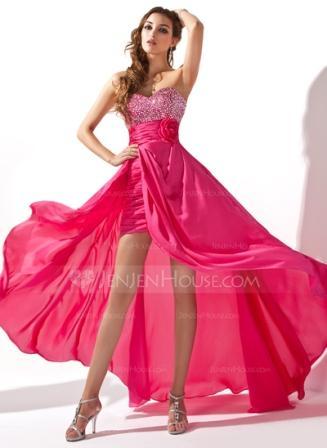 pink short long