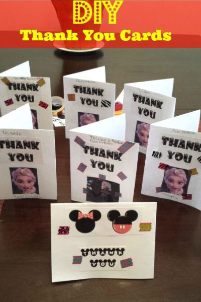 DIY Thank You cards – Disney Frozen and Minnie theme, Free Printables