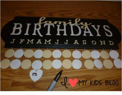 Woodworx Birthday Board write