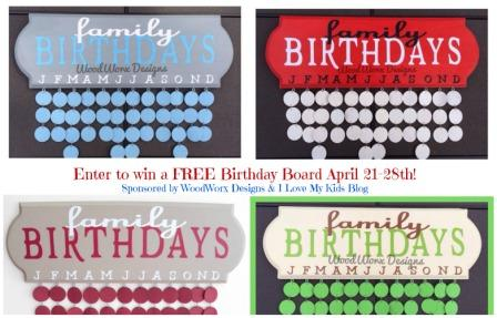 birthday board giveaway small button