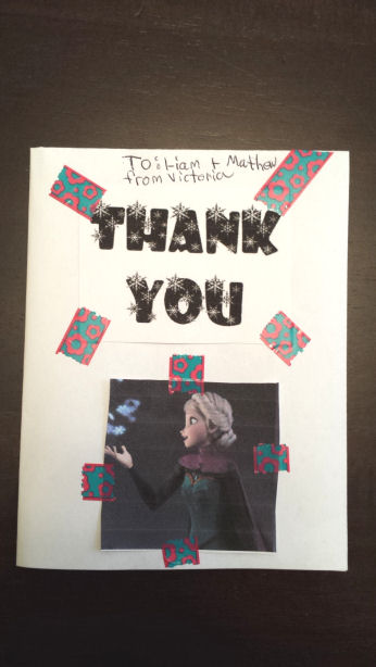disney froezen thank you cards