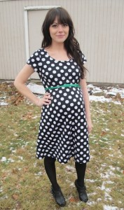 flybelly polka dot dress