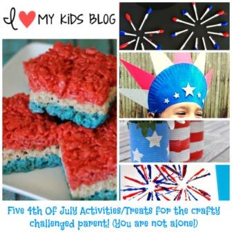 Five 4th Of July Activities/Treats for the crafty challenged parent!