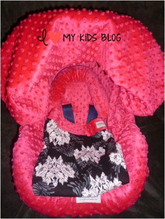 Car seat canopy whole caboodle with blanket
