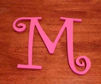 Painted M
