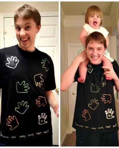 Child's Handprint Shirt-Great DIY Keepsake Gift Idea