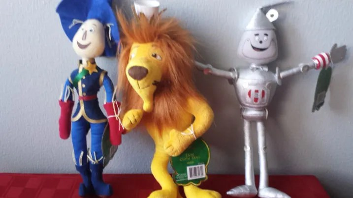 legends of oz Scarecrow, Cowardy Lion, and Tin Man