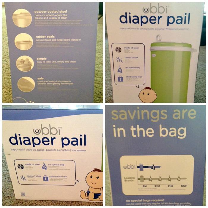Diaper Pail Box Collage