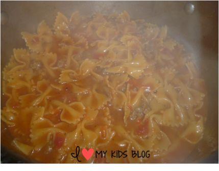 Bowtie sausage pasta 4