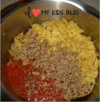 Bowtie sausage pasta 8