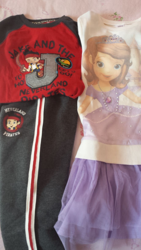 The Disney apparel Jake and Sofia collection by Jumping Beans