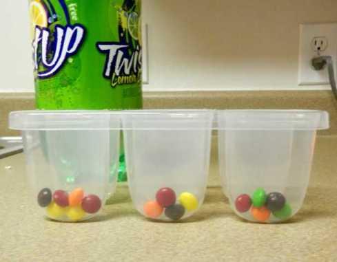 Skittles in mold