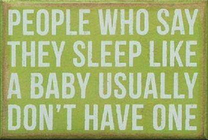 sllep like a baby