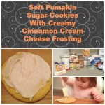 Soft Pumpkin Sugar Cookies with Creamy Cinnamon Cream Cheese Frosting