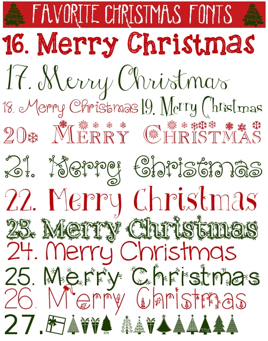 FAvorite Christmas fonts2