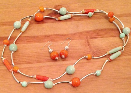 Jinja Necklace and Earings