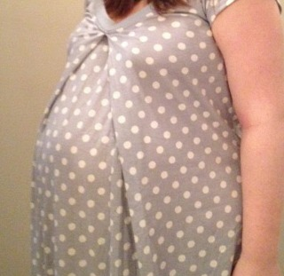 Baby Belly in Baby Be Mine Maternity Nightgown