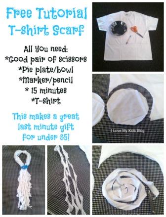free t-short scarf tutorial small