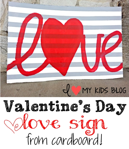 Love-sign-from-cardboard
