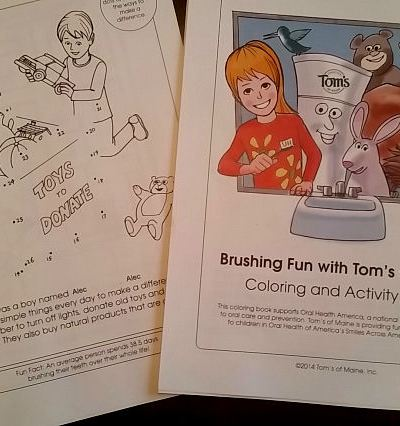 """Free Personalized """"Brushing Fun"""" coloring and activity book #GoodBedtime"""